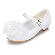 Girls' Shoes Casual Round Toe Flats Ivory / White