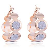Korean Fashion Glitter Connected Circles Earrings