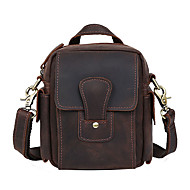 Men Cowhide Sports / Casual / Outdoor /  Shopping Shoulder Bag / Shoulder Bag / Waist Bag - Brown