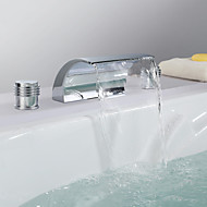 Contemporary Waterfall Stainless Steel Chrome