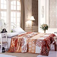Velocino de Coral Multi Cores,Estampado Floral / Botânico 100% Poliéster cobertores W120*L200cm  W150*L200cm  W180*L200cm  W200*L230cm