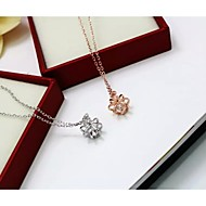 Women's Silver Necklace Anniversary / Birthday / Gift / Party / Daily / Causal / Outdoor Cubic Zirconia