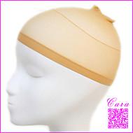 2stk unisex elastiske parykk caps for å lage parykker hårnett parykk liner cap tubeskjerf nylon stretch mesh