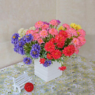 Poliéster Margaridas Flores artificiais