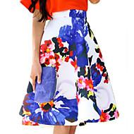 Polyester - Inelastisch - Casual / Print - Boven de knie - Vrouwen - Rokken