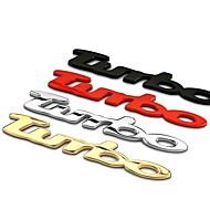 turbo decoração estilo do carro 3d etiqueta do carro carro cauda decoração emblemas alta qualidade adesivos