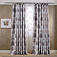 (Two Panels)Modern Trees Printed Polyester Blackout Curtain(Sheer Not Included)