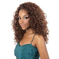 mote afrikansk svart og brunt to farge Aviable lange krøllete syntetisk hår parykker.