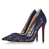 Women's Shoes Suede Stiletto Heel Heels / Pointed Toe Heels Party & Evening / Dress / Casual Blue