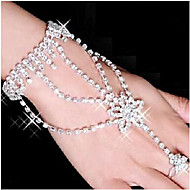 Lucky Doll Alloy / Rhinestone / Silver Plated Bracelet Wrap Bracelets / Ring Bracelets Party / Daily 1pc