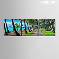 Paisagem Impressão em tela 3 Painéis Pronto para pendurar , Quadrada
