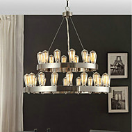 MAX:60W Chandelier ,  Vintage Chrome Feature for Mini Style Metal Bedroom / Dining Room / Study Room/Office / Entry / Hallway