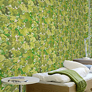 New Rainbow™Trees/Leaves Wallpaper Contemporary Wall Covering , PVC/Vinyl 3D Wallpaper PVC Green Leaves