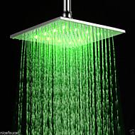 "16"" Inch RGB LED Light Stainless Steel Rainfall Rain Bathroom Shower Head"