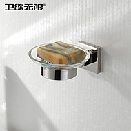 """Soap Dish Stainless Steel Wall Mounted 80 x 80 x 50mm (3.15 x 3.15 x 1.97"""") Stainless Steel Contemporary"""