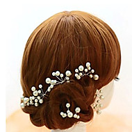 Women's / Flower Girl's Alloy / Imitation Pearl Headpiece - Wedding / Special Occasion Hair Pin 5 Pieces