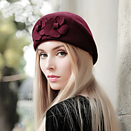 Women's  British Style Vintage Fashion Wool Beret Hat, Casual Autumn Winter