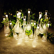 Solar Outdoor Light 6.5M 30LED Water Drop Shape String Light for Christmas Wedding Party Light