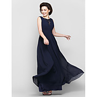 Lanting Bride® A-line Mother of the Bride Dress Ankle-length Sleeveless Chiffon / Lace with Lace / Criss Cross