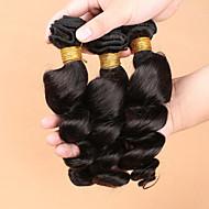 7A Brazilian Loose Wave Hair Extension With Silk Base Closure Virgin Human Hair 3 Bundles With Silk Base Closure