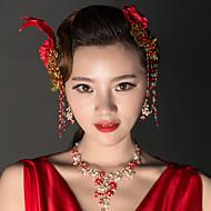 Women's Rhinestone / Alloy / Fabric Headpiece - Wedding Hair Combs 2 Pieces