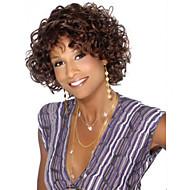 áfrica moda marrom peruca de cabelo encaracolado