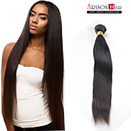 """1 Pc/Lot 8""""-24"""" Brazilian Hair Extensions Natural Color Straight Hair Weaves Tangle & Shedding Free"""