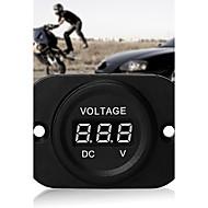 bil motorcykel magt skærm digitalt rød førte voltmeter volt meter dc 4-26v