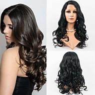 24inch el 100% del frente del cordón del cabello humano brasileño virginal del pelo peluca ondulada para las mujeres