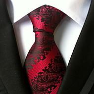Men Wedding Cocktail Necktie At Work Red Muticolors Tie