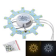 Jiawen 12w 1200lm fonte de luz branca / branca quente para a lâmpada do teto / prego magnética (ac175 ~ 265V)