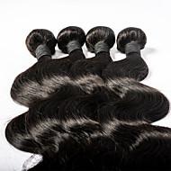 Cabelo Humano Ondulado Cabelo Mongol Onda de Corpo 3 Peças tece cabelo