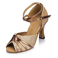 Na zakázku - Dámské - Taneční boty - Latina - Flitry - Jehlový podpatek - Fialová / Zlatá