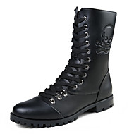 Men's Spring / Fall / Winter Platform / Combat Boots Synthetic / Leatherette Outdoor / Office & Career / Casual Flat HeelBraided Strap /