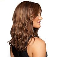 Mode Mädchen in langen Haare wellig braun synthetische Perücke