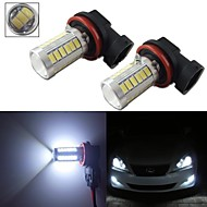 2pcs HID White H11 H8 33-5730-SMD LED Replace Bulbs For Car Fog Daytime Lights 12-24V