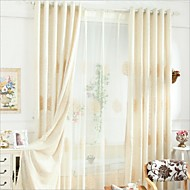 Two Panels Europe Elegant Fashion High-Grade Cotton Embroidered Curtains