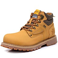Men's Shoes Outdoor / Athletic / Casual Leather Boots Brown / Yellow / Taupe