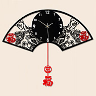 Nyhet / Kuppel Moderne / Nutidig Wall Clock , Blomst / Botanikk / Dyr / Naturskjønn / Bryllup / Familie Glass / MetallS:62cm x 48cm( 24in