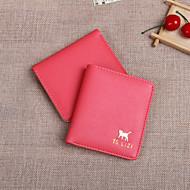 Naiset PU / Polyesteri Kaksoistaite Lompakko / Luottokorttikotelo / Rahapidike / Käyntikorttikotelo -Beige / Pinkki / Violetti / Sininen