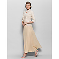 Lanting Bride® A-line Mother of the Bride Dress Ankle-length 3/4 Length Sleeve Chiffon / Lace with Lace