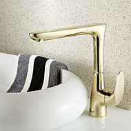 Ti-PVD Brass Finish   Single  Hole Single Handle Kitchen  Faucet