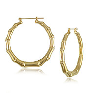 "Hot Selling  Bamboo Earrings Exaggerated Golden Circle ""Street Dance Stud Earrings"