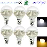 12W E26/E27 Lâmpada Redonda LED B 18 SMD 5630 900 lm Branco Quente / Branco Frio Decorativa AC 220-240 V 6 pçs