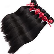 pelo virginal brasileño teje recto sin procesar tejer del pelo humano 1pcs armadura 100g / pcs del pelo brasileño 1 manojos