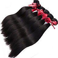 brasilianisches reines Haar gerade webt unverarbeitete Menschenhaarspinnen 1pcs 100g / pcs brasilianische Haarwebart 1 Bundles