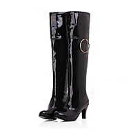 Women's Spring Fall Winter Fashion Boots Patent Leather Dress Casual Stiletto Heel Black Red White