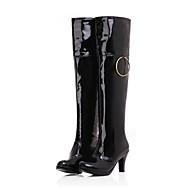 נעלי נשים - מגפיים - עור פטנט - מגפי אופנה - שחור / אדום / לבן - שמלה / קז'ואל - עקב סטילטו