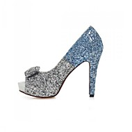 Women's Shoes Glitter Stiletto Heel Heels / Peep Toe / Platform Sandals Wedding / Party & Evening / Casual Blue