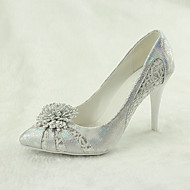 Women's Wedding Shoes Heels / Pointed Toe Heels Wedding / Party & Evening / Dress Silver